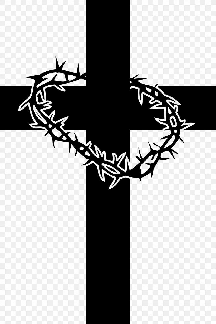 Christian Vector Png - Crown Of Thorns Clip Art Christian Cross Vector Graphics Image ...