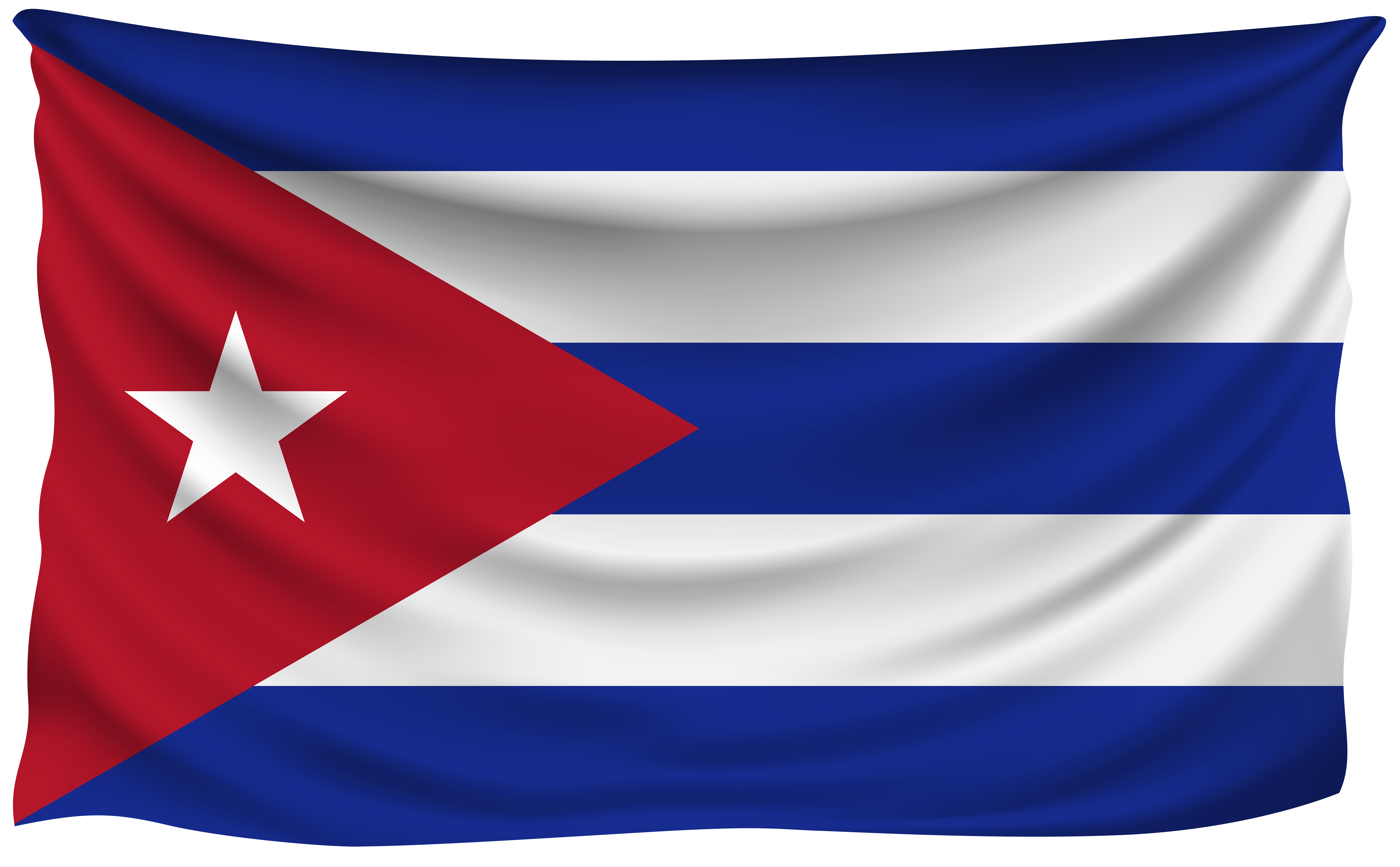 Flag Of Cuba Png - Cuba Wrinkled Flag | Gallery Yopriceville - High-Quality Images ...