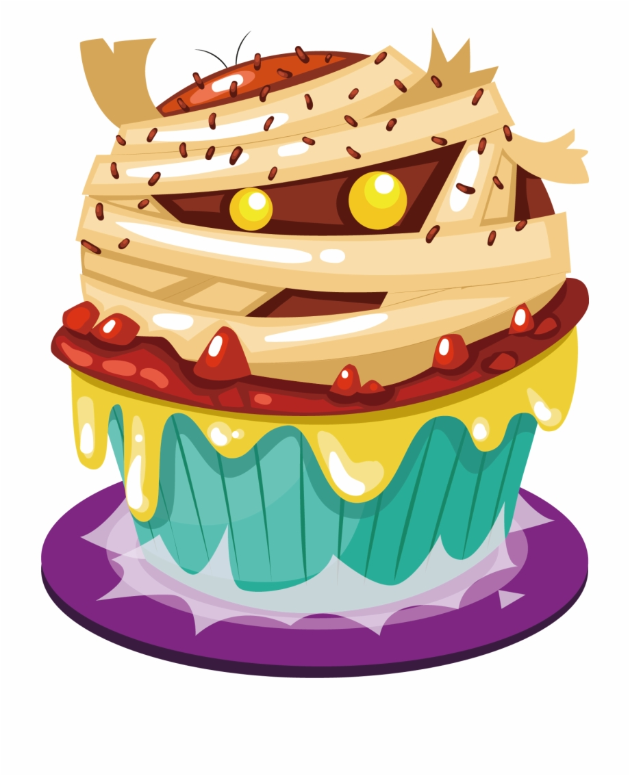 Groovy Cupcake Halloween Cake Birthday Cake H 1365493 Png Images Pngio Funny Birthday Cards Online Aeocydamsfinfo