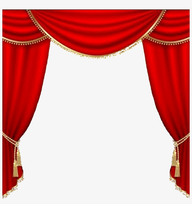 Theater Backgrounds Png - Curtains Vector Clipart Theater Drapes And Stage Curtains - Red ...