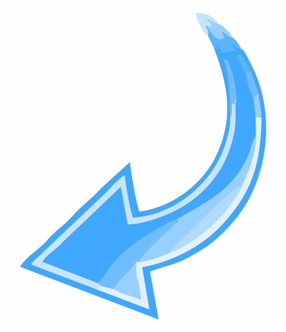 Curved Arrow Png Hd Blue Transparent C 922863 Png Images Pngio