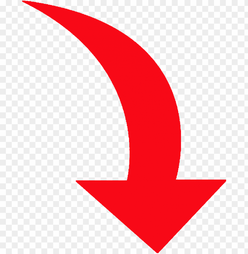 Curved Red Arrow PNG Image With Transpar #683975 - PNG