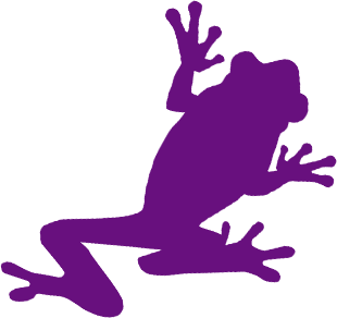 Purple Frog Png - Custom Labels