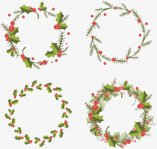 Christmas Wreath Vector.Cute Christmas Wreath Combination Chris 157202 Png