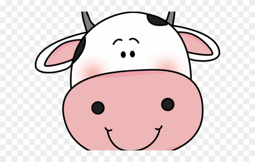 Cute Cow Png - Cute Clipart Cow - Cute Cow Face Cartoon - Png Download (#1646146 ...