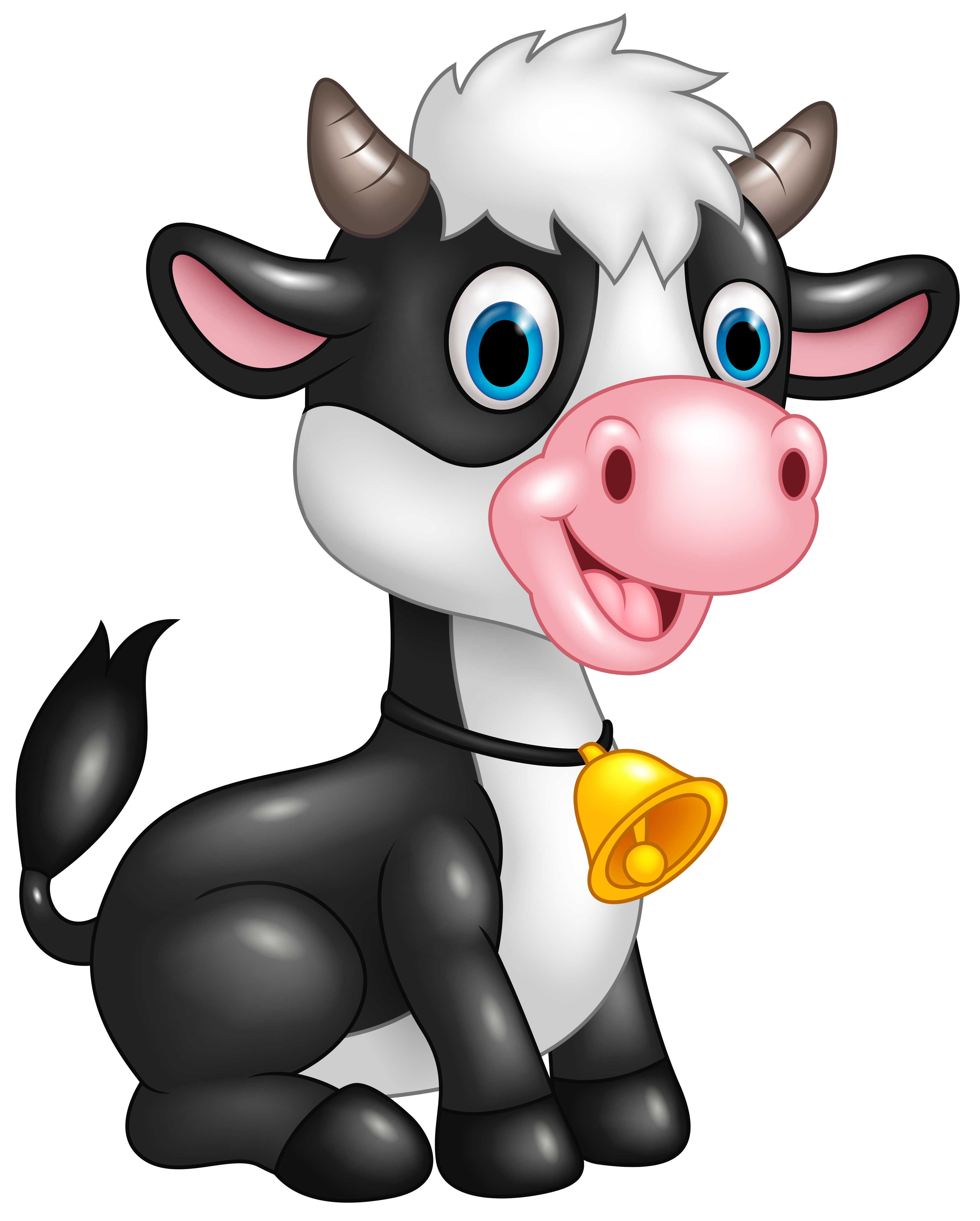 Cute Cow Png - Cute Cow Cartoon PNG Clipart Image | Gallery Yopriceville - High ...