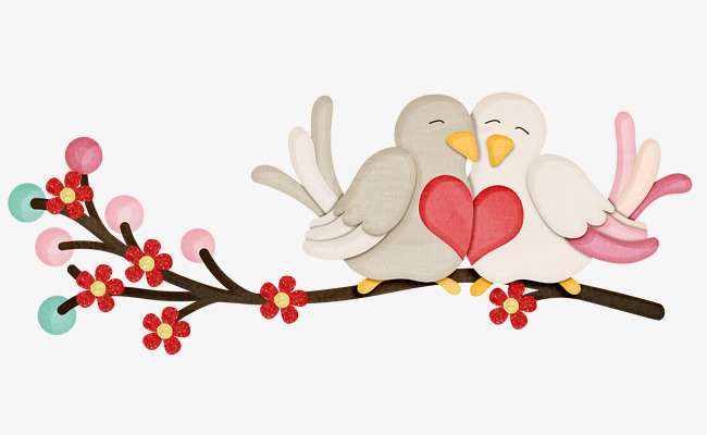 Cute Love Pngs - Cute Love Birds, Cute Clipart, Love Clip #54450 - PNG Images - PNGio