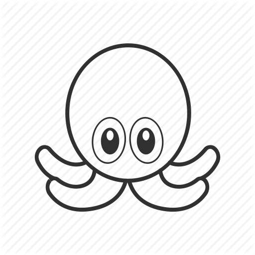 Cute Octopus Png Black And White - Cute octopus, emoji, mollusc, octopus emoji, octupus, sea creature ...
