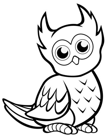 Cute Owl Coloring Pages Png - Cute Owl coloring page | Free Printable Coloring Pages