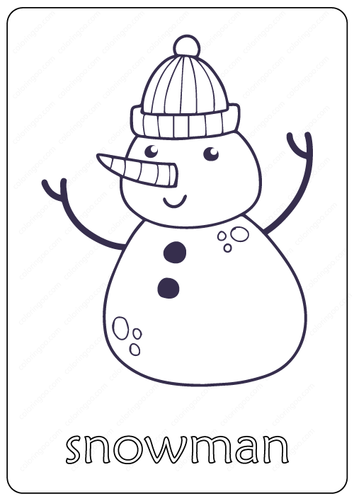 simple snowman coloring pages | Printable Christmas Coloring Pages ... | 708x500