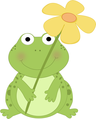 Frog Png With No Border - Cute+Spring+Clip+Art   Frog Holding a Flower Clip Art Image - cute ...