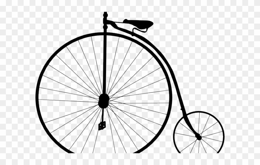 Old Bicycle Png - Cycling Clipart Old Fashioned - Penny Farthing Bike - Png Download ...