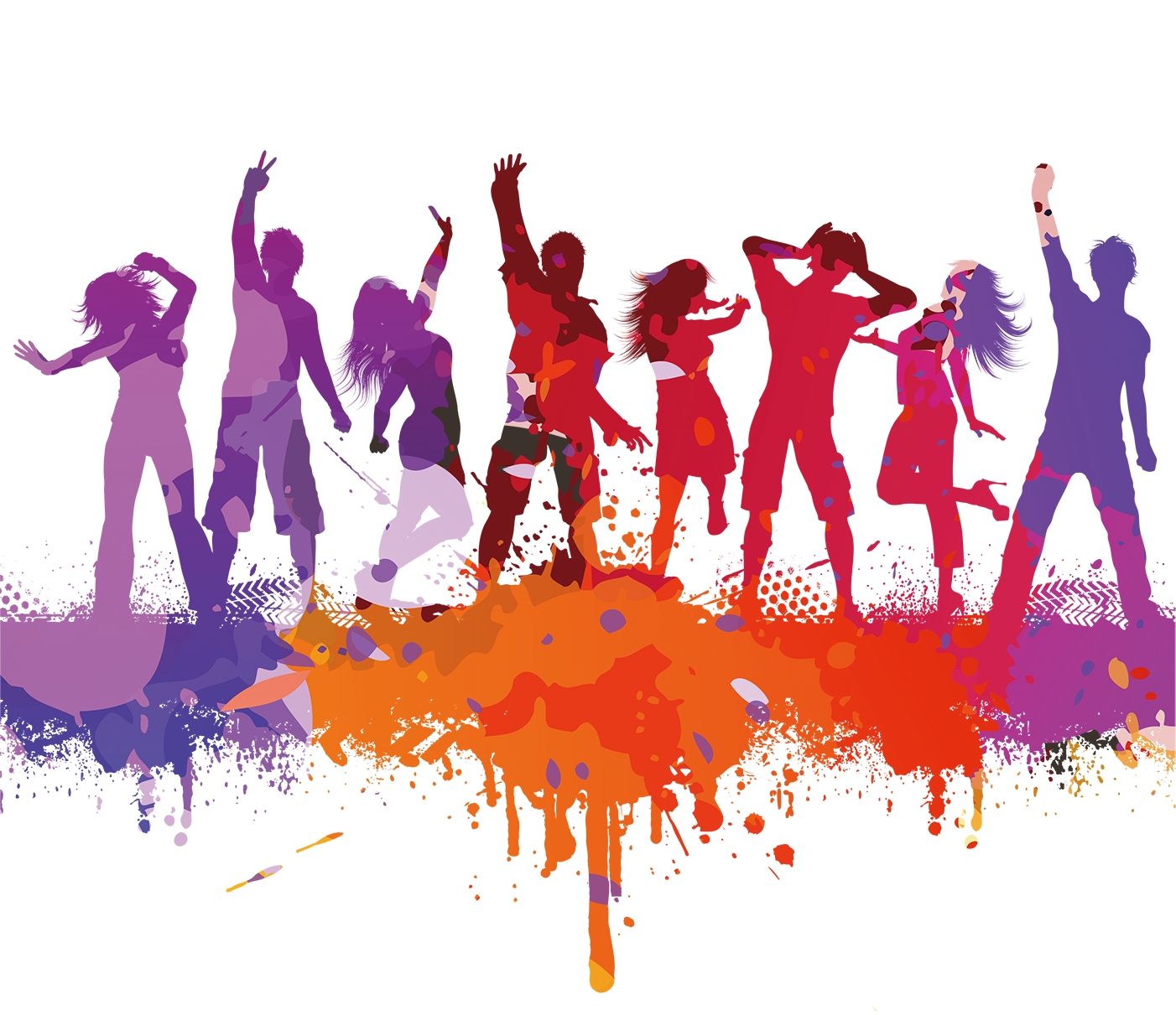 Dance Art Png - Dance party Dance party Silhouette - Color silhouettes of men and ...