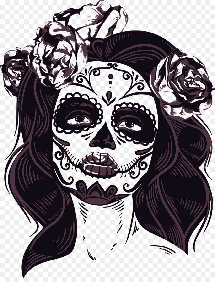 Catrina Png - Day Of The Dead Skull png download - 988*1280 - Free Transparent ...