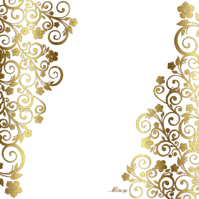 Gold Floral Png - deco-png-floral-gold, deco-png-floral-gold - PicMix