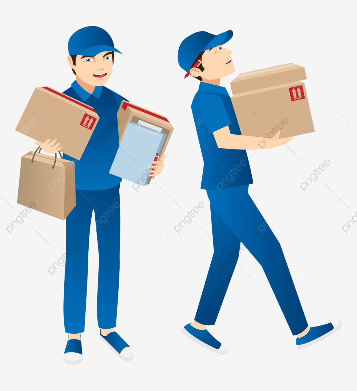 Delivery Guy Png - Delivery Guy, Box, Delivery, Illustration PNG and Vector with ...