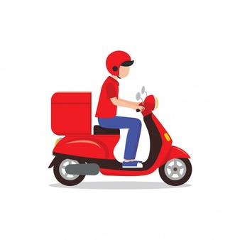Png Delivery Man On Bike - Delivery Vectors, Photos and PSD files   Free Download