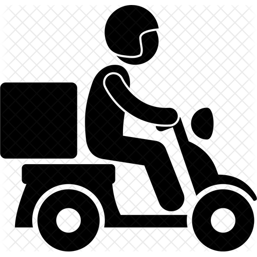 Png Delivery Man On Bike - Deliveryman Icon of Glyph style - Available in SVG, PNG, EPS, AI ...