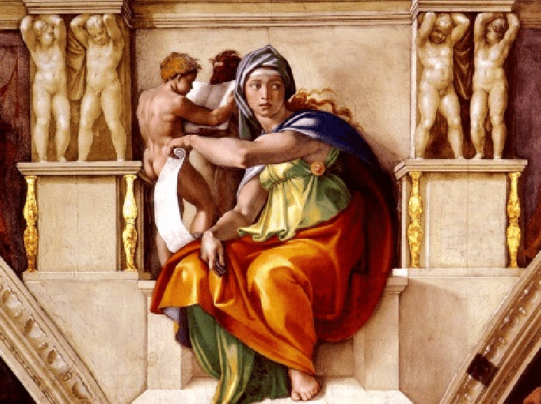 Delphic Sibyl Png - Delphic Sibyl as painted by Michelangelo on the ceiling of the ...