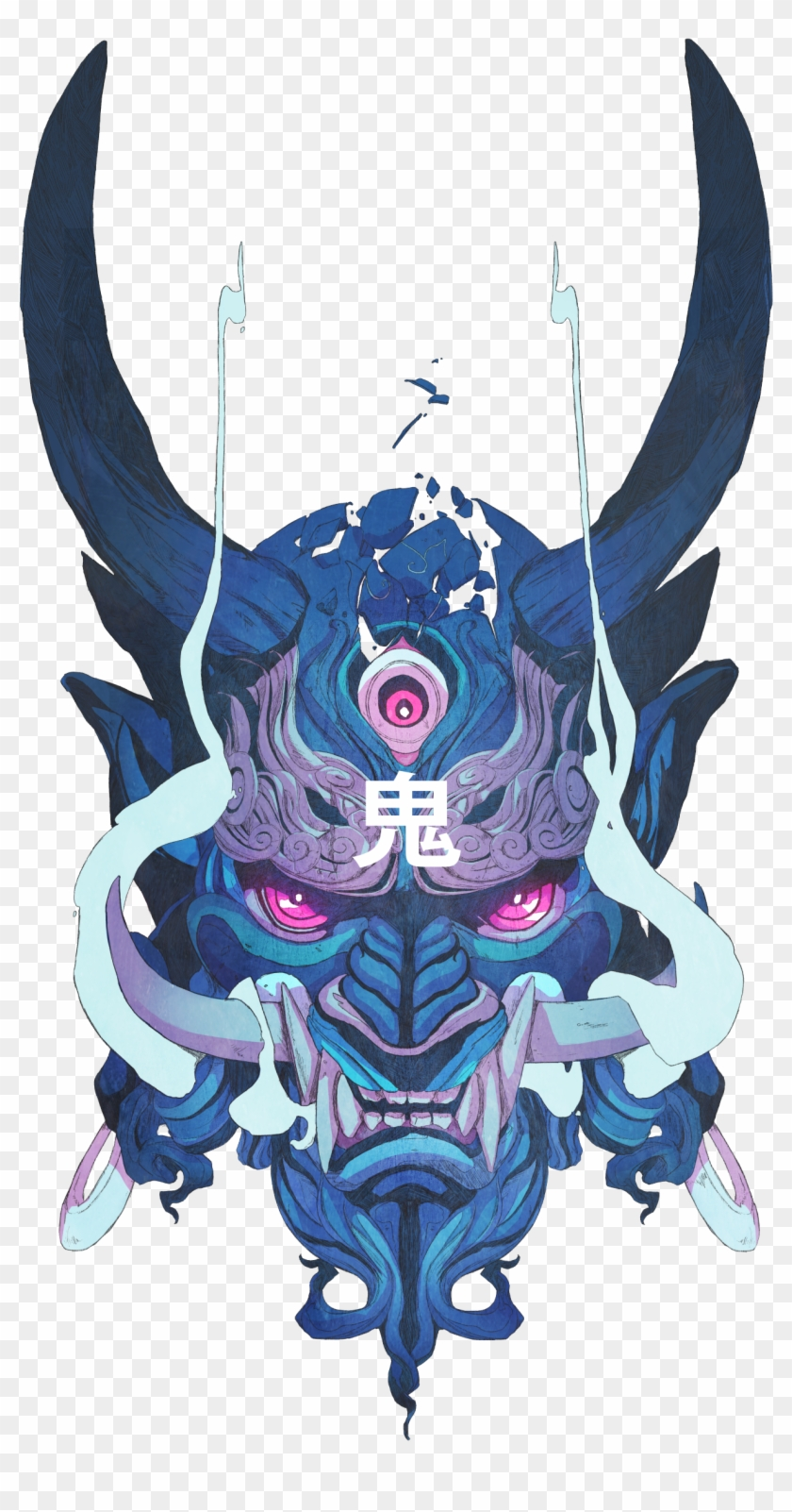 Oni Demon Png - Demon Japanese Mask, HD Png Download - 2602x2926(#5895777) - PngFind