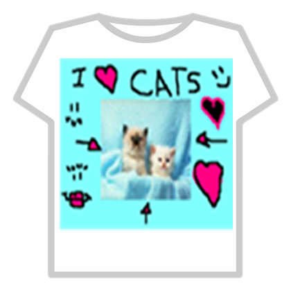 Cat Tags Roblox Denisdaily T Shirt I Love Cat D Roblo 1187149 Png Images Pngio