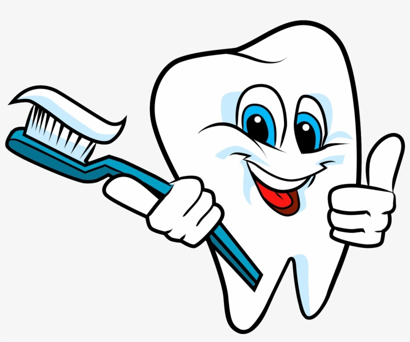 Dental Clipart - Dental Clipart Clean Tooth - Brush Your Teeth Transparent PNG ...