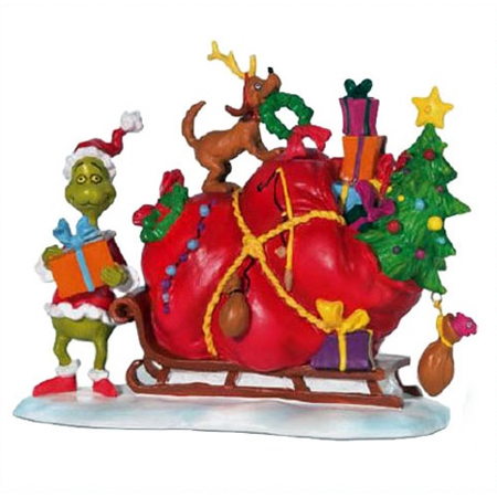 Santa Waterslide Sled Png - Department 56 Grinch Village Grinch's Small Heart Grew Three ...