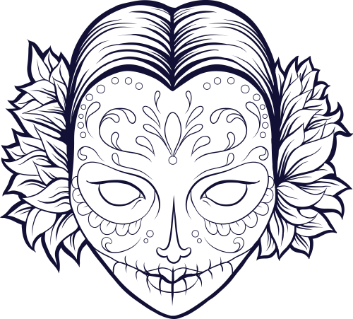 13 sugar skull free coloring pages - Print Color Craft | 451x500