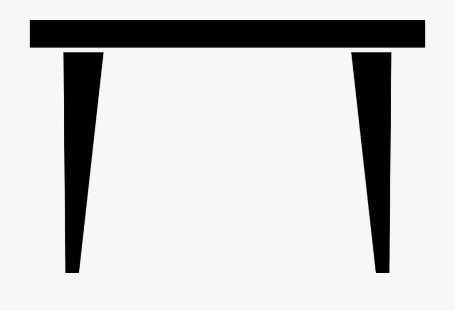 Table Silhouette Png - Dining Table Furniture - Table Black And White Png , Transparent ...