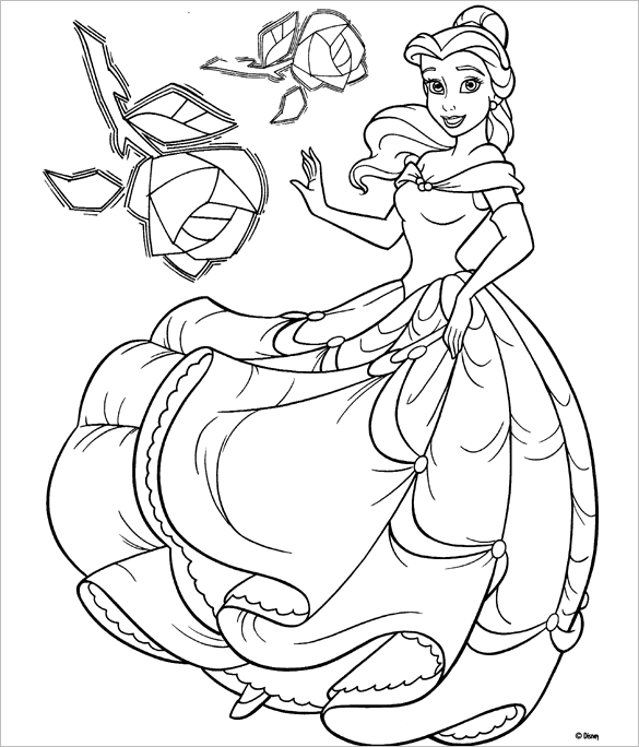 Disney Princess Coloring Pages Png #2070494 - PNG Images - PNGio