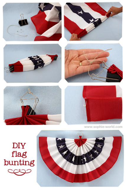 Old Fashioned Patriotic Bunting Png - DIY flag bunting / fabric swag. Great for Fourth of July! From ...