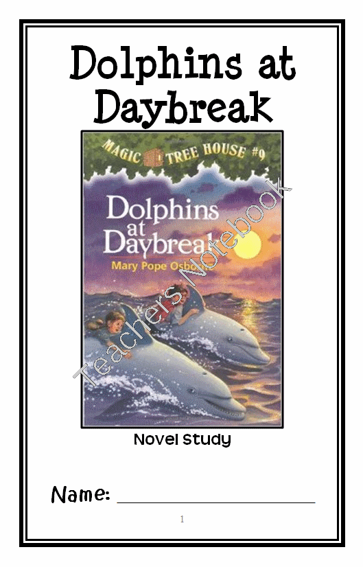 Dolphins At Daybreak Png - Dolphins at Daybreak: Magic Tree House #9 (Osborne) Novel Study ...