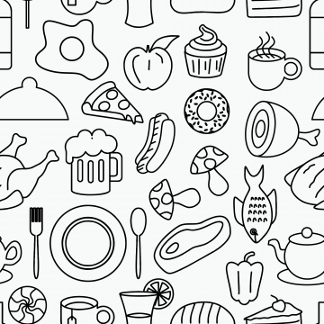 Doodle Food Png Images Vector And Psd 1081397 Png Images Pngio