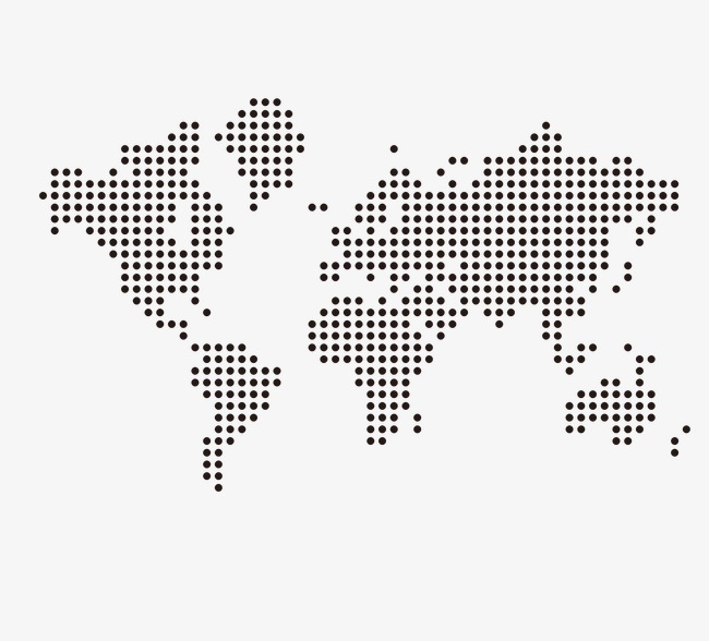 Dotted World Map, Black, Dot, Vector PNG #395901 - PNG ...