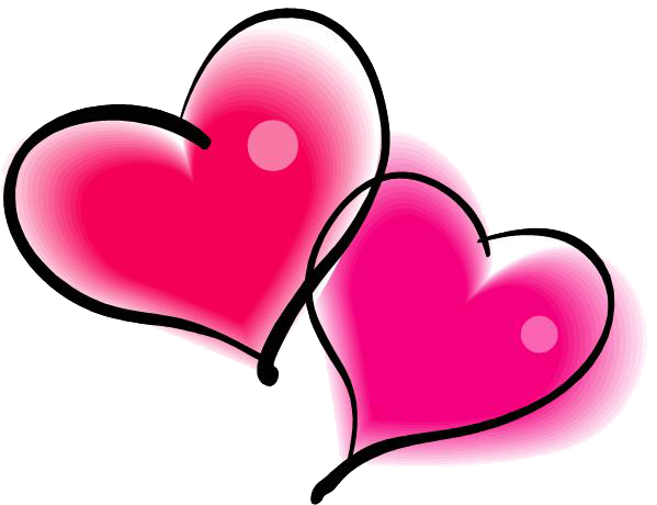 Double Heart Png - Double Pink Heart PNG