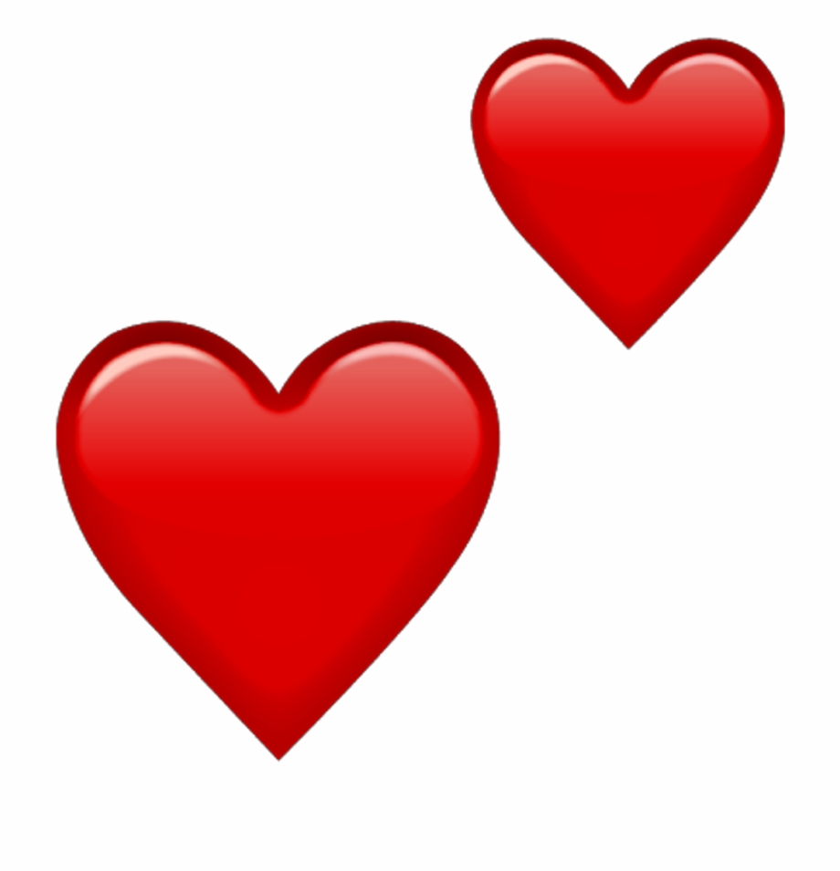 Double Red Heart Emoji, HD Png Download 12   PNG Images   PNGio