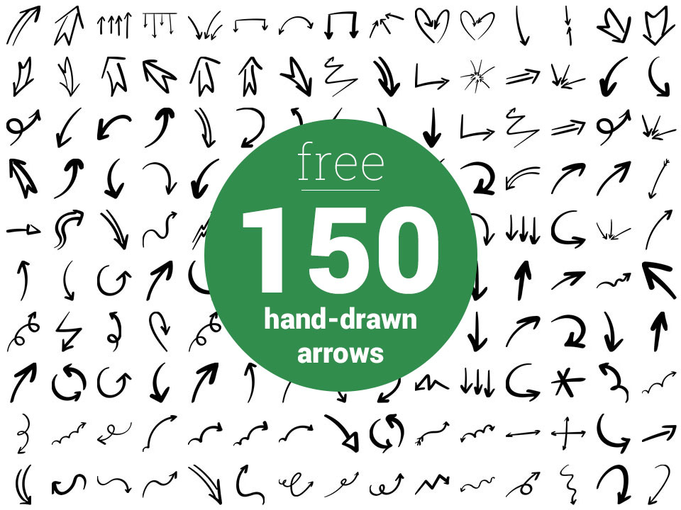 Hand Drawn Arrow Png - Download 150 Free Hand Drawn Arrows (PSD, EPS, PNG) - FriendlyStock