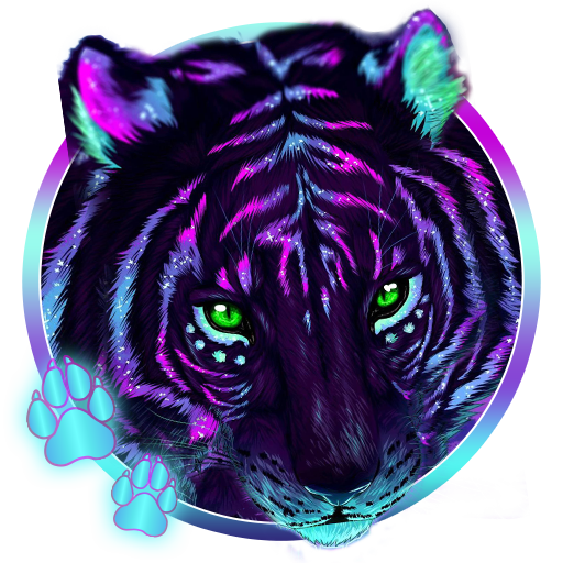 Download Cool Neon Tiger 3d Live Lock Sc 1015935 Png Images Pngio