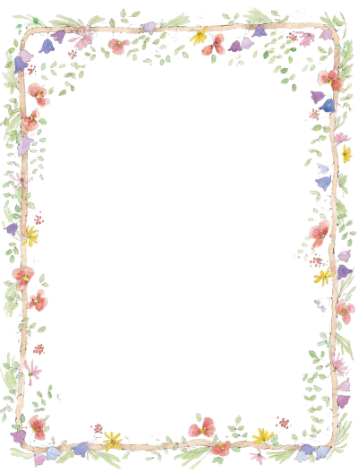 Border Png Transparent - Download FLOWERS BORDERS Free PNG transparent image and clipart