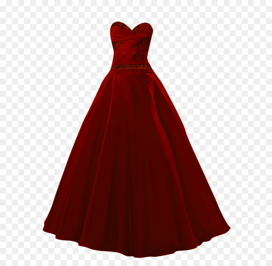 Ball Dress Png - Download Free png Ball gown Maroon Prom Dress - dress png download ...
