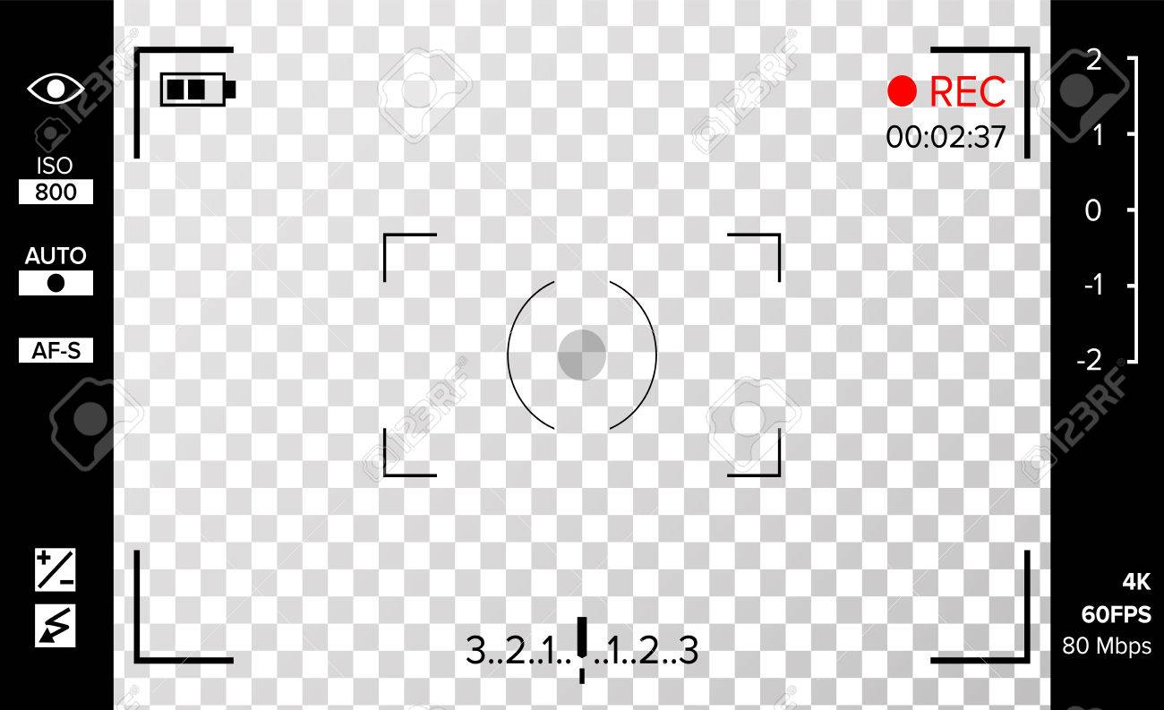 Red Viewfinder Png - Download Free png Camera Viewfinder Vector. Photo Or Video Camera ...