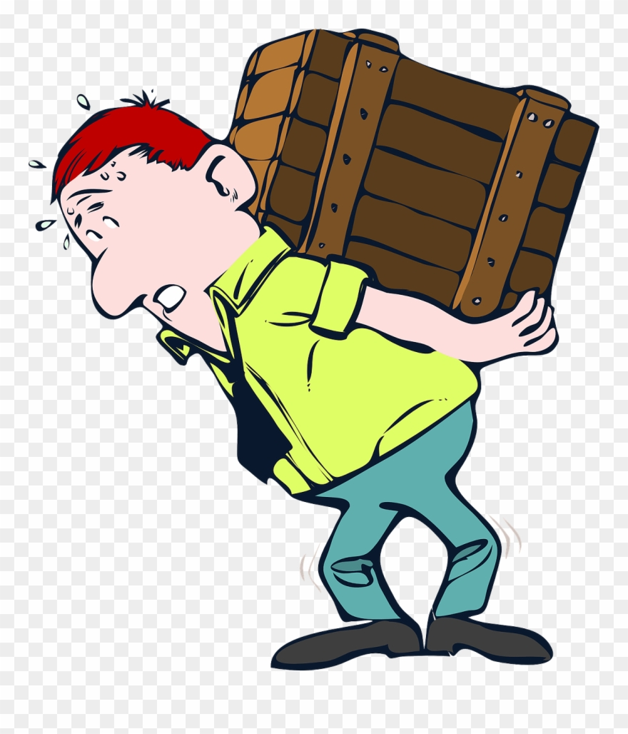 Man Carrying Heavy Load Png - Download Free png Hardworking Cliparts Man Carrying Heavy Load ...