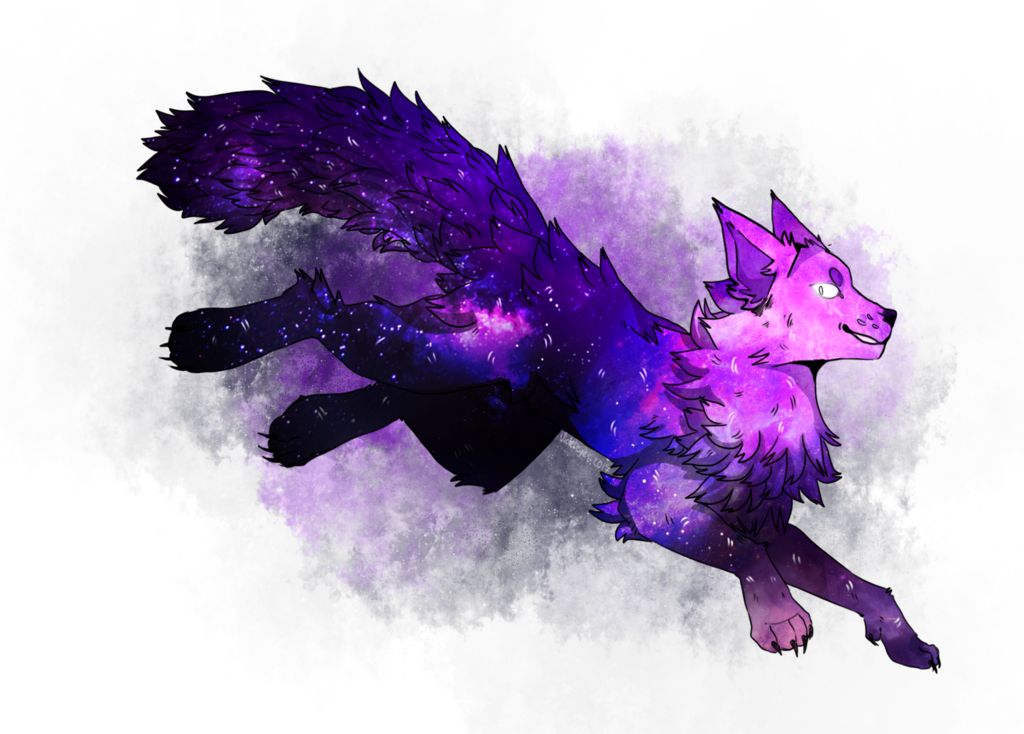 download galaxy wolf by violetdrawcat on deviantart picture galaxy wolf png 1024 734