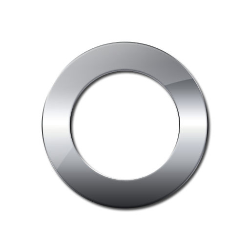Silver 3d Circle Png - Download Glossy Silver Symbol PNG Image for Free