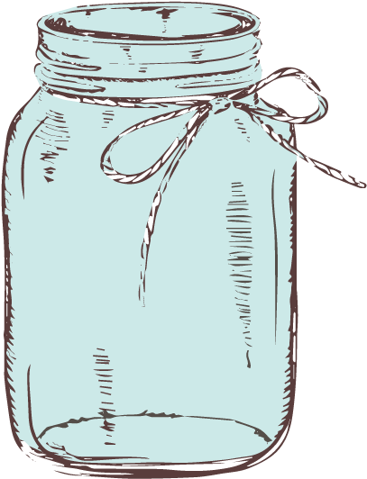 Mason Jar Png No Background - Download Graphic Library Download Mason Jar With Bow Clipart ...