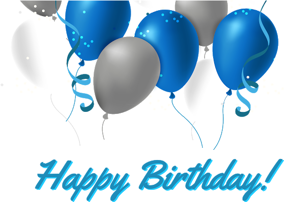 Happy 65th Birthday Png - Download Happy Birthday Beloon Designs Download - 65th Birthday ...