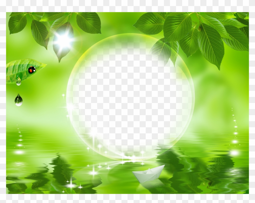 Background Images Nature Png - Download Hd Nature Frames Nature Green Leaf Background - Natural ...