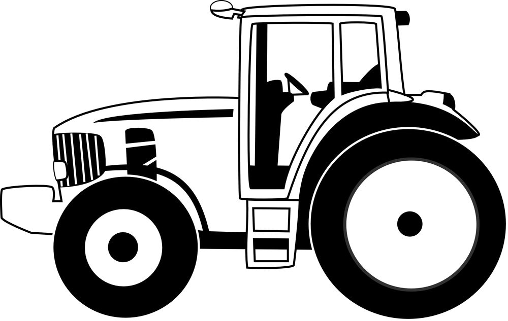 Tractor Outline Png - Download HD Tractor Outline - Tractor Sticker Transparent PNG ...