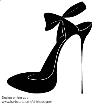 Black Ribbon Heels Png - Download High Heel Silhouettes Hd Photos Clipart PNG Free ...