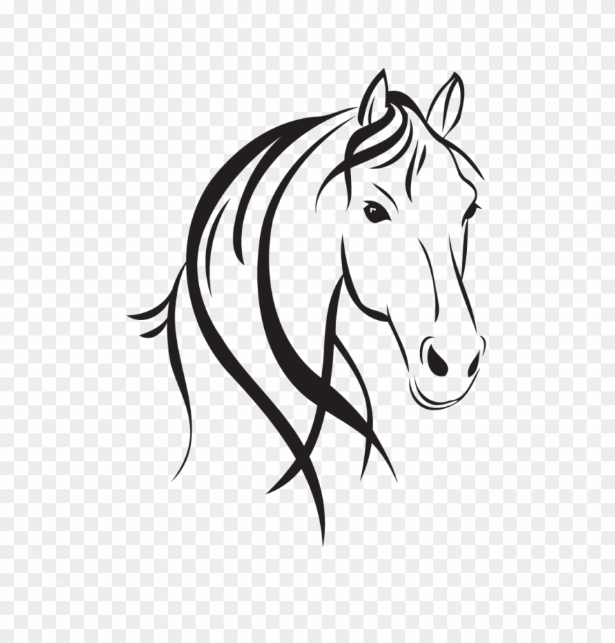 Horse Head Clipart - Download Horse Head Style - Horse Head Outline Clipart (#853031 ...